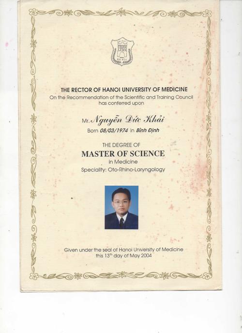 bang phau thuat tham my 5 Th.s Bác sĩ Nguyễn Đức Khải